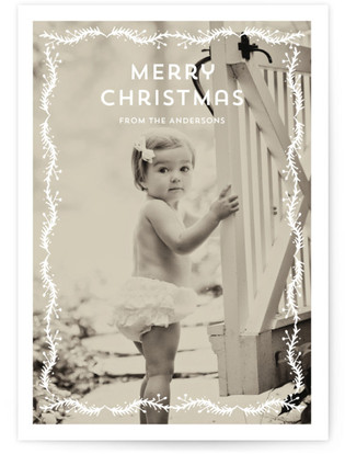 Papercut Christmas Photo Cards