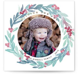 Wreath of Joy Christmas Photo Cards