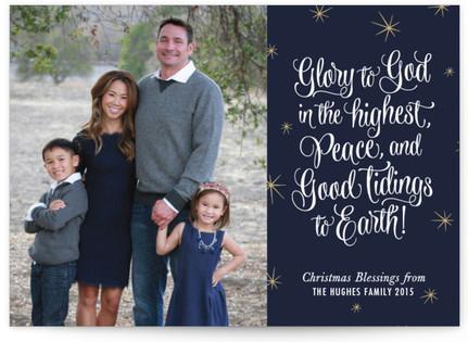 Greetings of Glory Christmas Photo Cards
