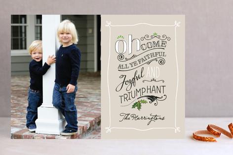 All Ye Faithful Christmas Photo Cards