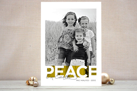 Bold Noel Christmas Photo Cards