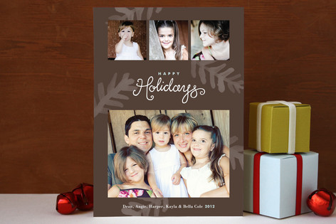Painterly Pine Christmas Photo Cards