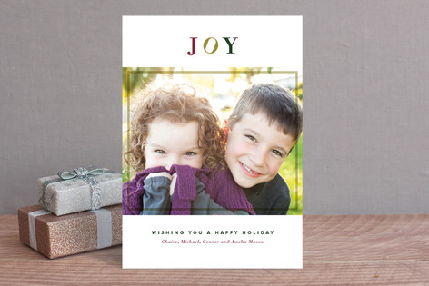Noel Blanc Christmas Photo Cards