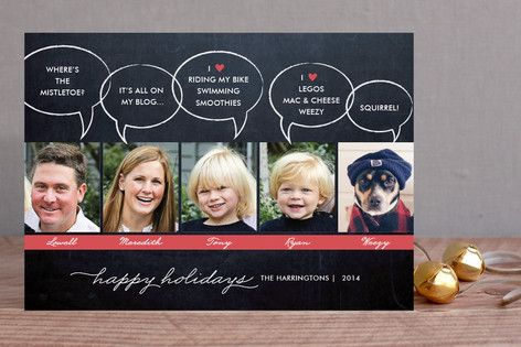 Chalkboard Quotes Christmas Photo Cards