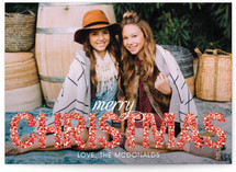 Bold Sparkle Christmas Photo Cards