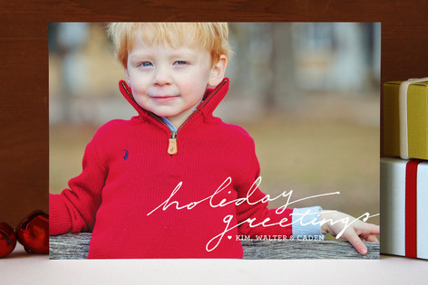 A Simple Greeting Christmas Photo Cards