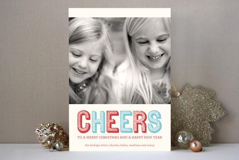 Stripe Type Christmas Photo Cards