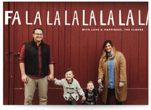 Hand-Lettered Fa La La La La Christmas Photo Cards