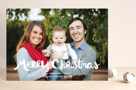 Hand-Lettered Merry Christmas Christmas Photo Cards