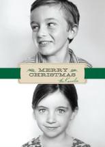 Christmas Ribbon Christmas Photo Cards