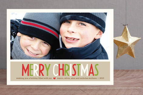 Making Spirits Bright Christmas Photo Cards
