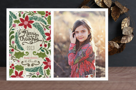 Sketchbook Foliage Christmas Photo Cards