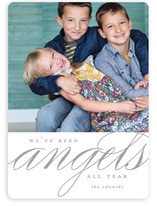 We've Been Angels Christmas Photo Cards