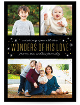 Wonders of His Love Christmas Photo Cards