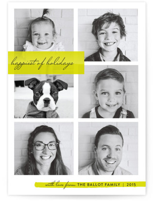Family Faces Christmas Photo Cards
