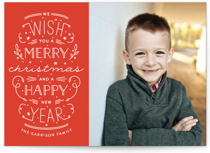 Merry Christmas Happy Year Christmas Photo Cards