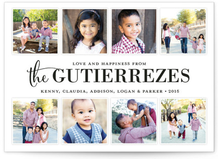 Family Album Christmas Photo Cards
