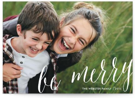 Classic Script Christmas Photo Cards