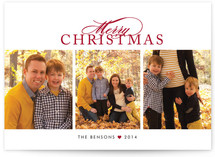 Scripted Merry Christmas Photo Cards