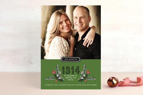 Framed Address Christmas Photo Cards