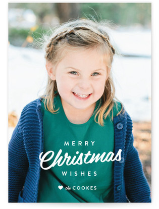 Vintage Wishes Christmas Photo Cards