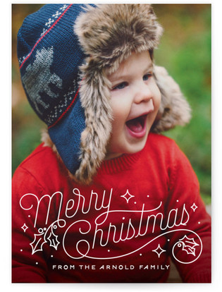 Christmas Script Christmas Photo Cards