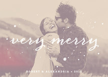 Very Merry Ink Christmas Photo Cards