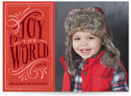 Old World Charm Christmas Photo Cards