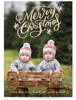 Classically Scripted Christmas Christmas Photo Cards