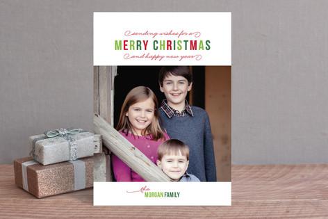 Simple Season Christmas Photo Cards