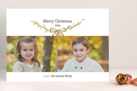 Mistletoe Kisses Christmas Photo Cards