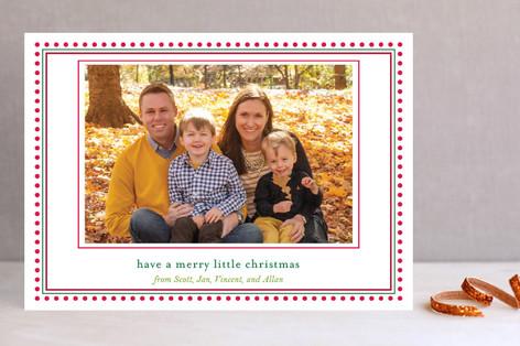 Happy Dot Christmas Photo Cards