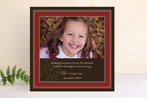 Snowflake Frame Christmas Photo Cards