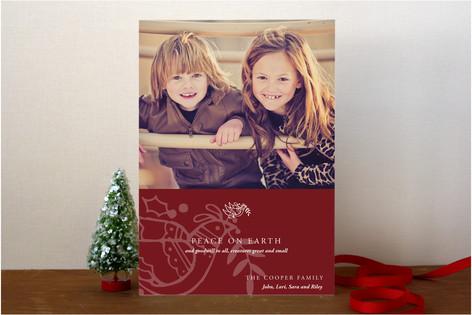 Modern Holiday Christmas Photo Cards