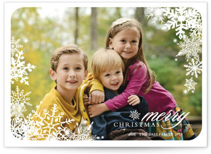 Snowflake Window Christmas Photo Cards