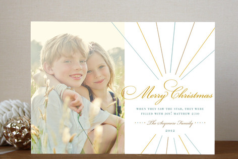 Float + Make Merry (Scripture) Christmas Photo Cards