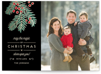 Christmas Magic Christmas Photo Cards