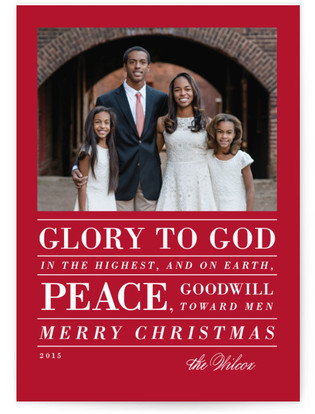 Glory in Type Christmas Photo Cards