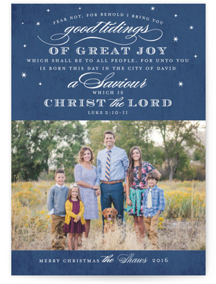 Luke 2 Christmas Photo Cards