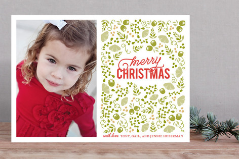 Christmas in the Garden Christmas Photo Cards