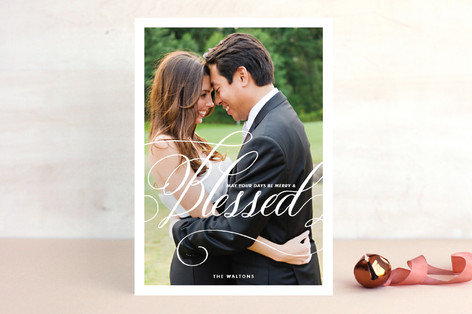Merry & Blessed Christmas Photo Cards