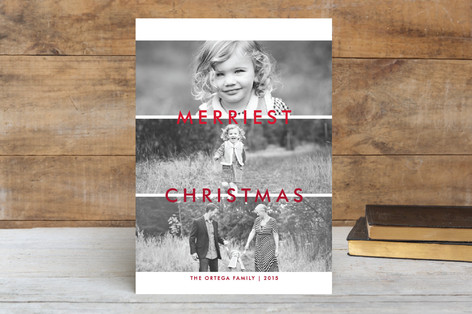 Split 3 Ways Christmas Photo Cards