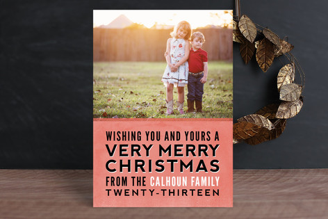 Stacked Christmas Christmas Photo Cards
