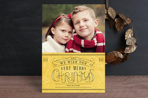 Waffle Christmas Photo Cards