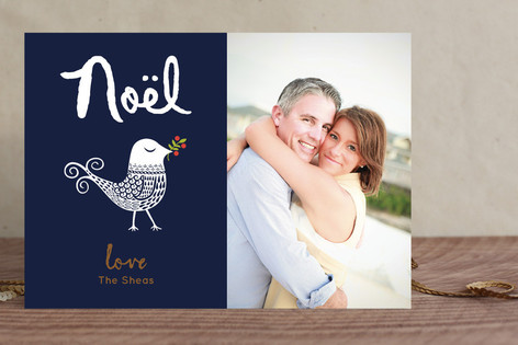 Decorated Dove Christmas Photo Cards