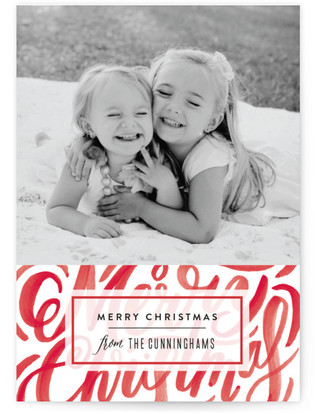 Scripted Texture Christmas Photo Cards