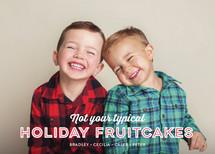 Holiday Fruitcakes Christmas Photo Cards
