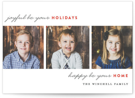 Merry Happy Home Christmas Photo Cards