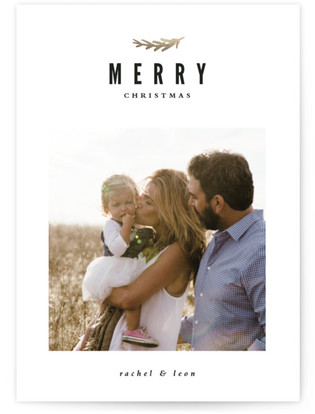 Merry Branch Christmas Photo Cards