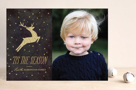 Festive Reindeer Christmas Photo Cards